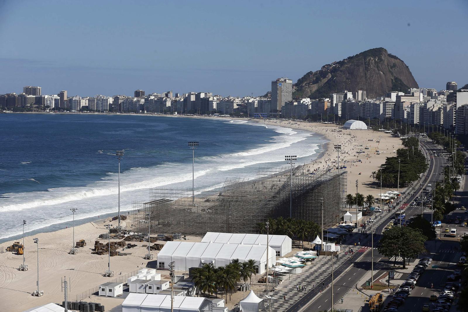 Пляж Копокабана готовится принимать соревнования