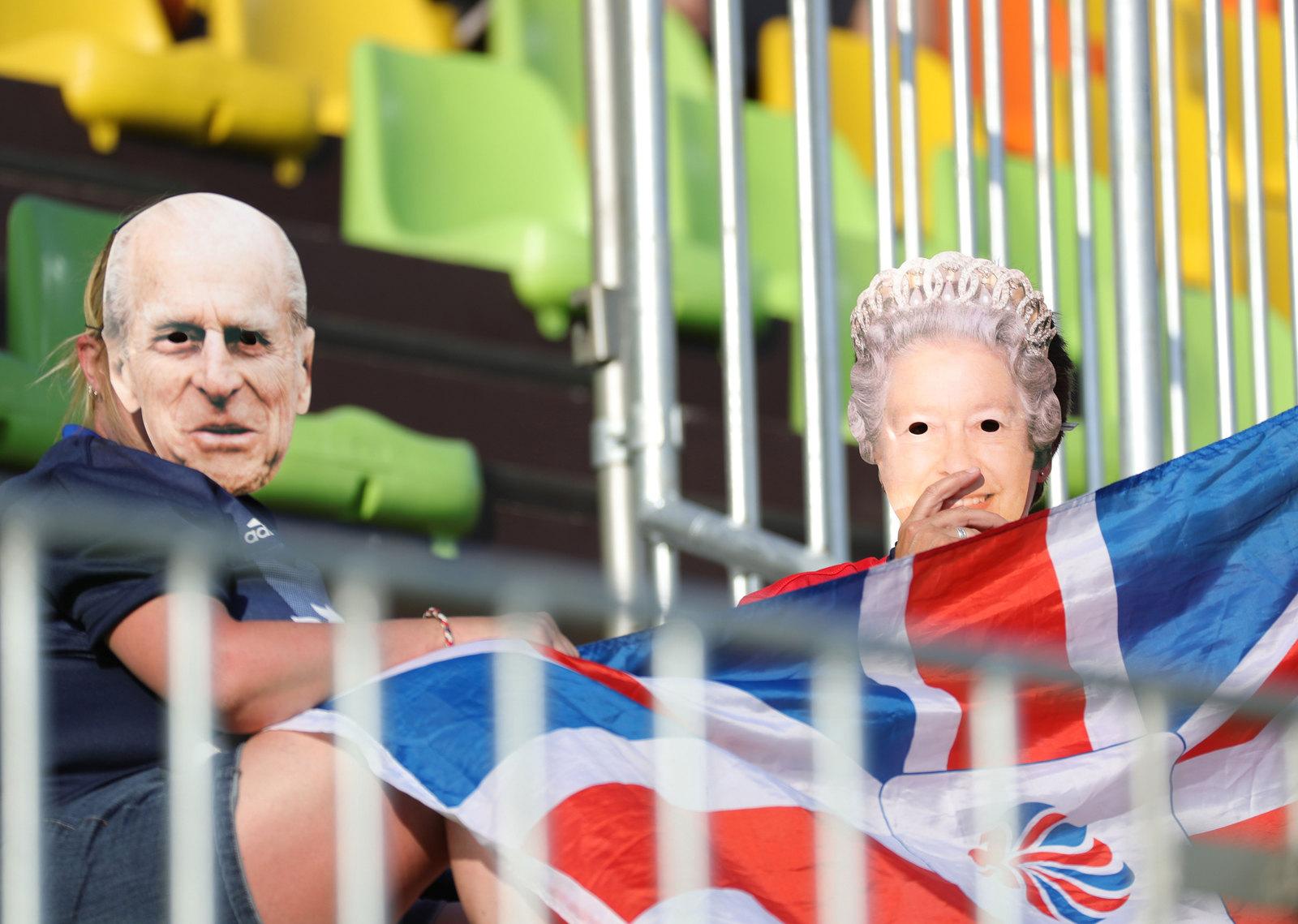 Представители королевского дома Великобриталии на трибунах в Рио