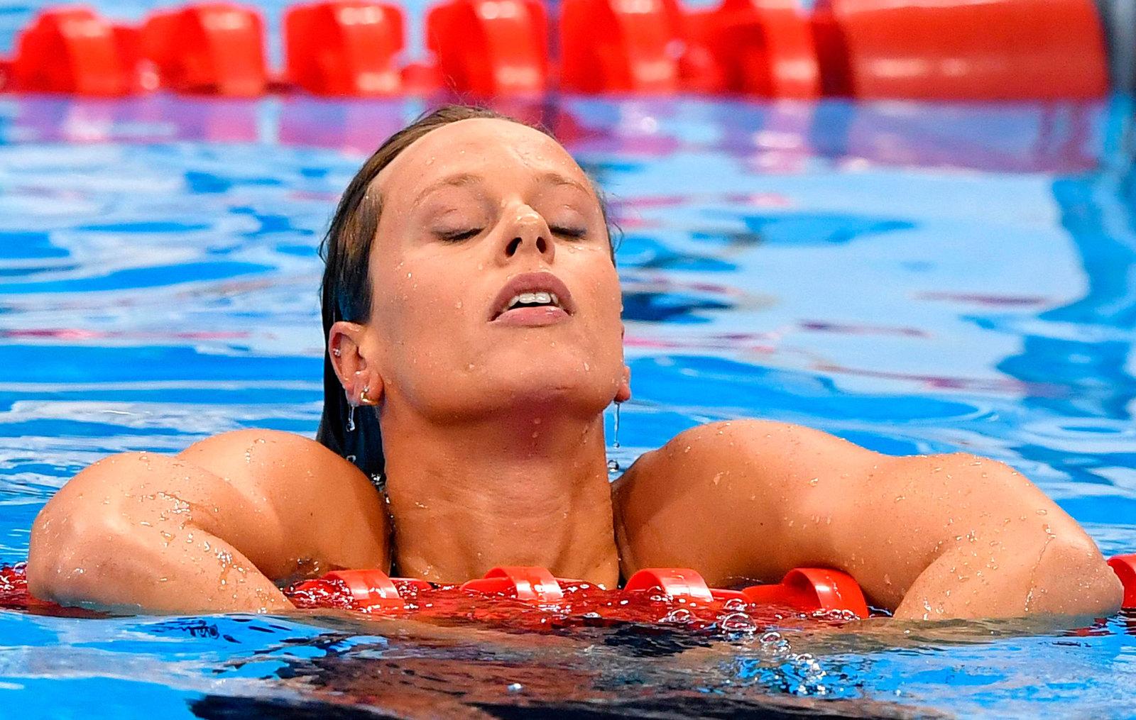 Итальянская звезда Федерика Пеллигрини не смогла попасть в тройку призеров в заплыве на 200 метров вольным стилем