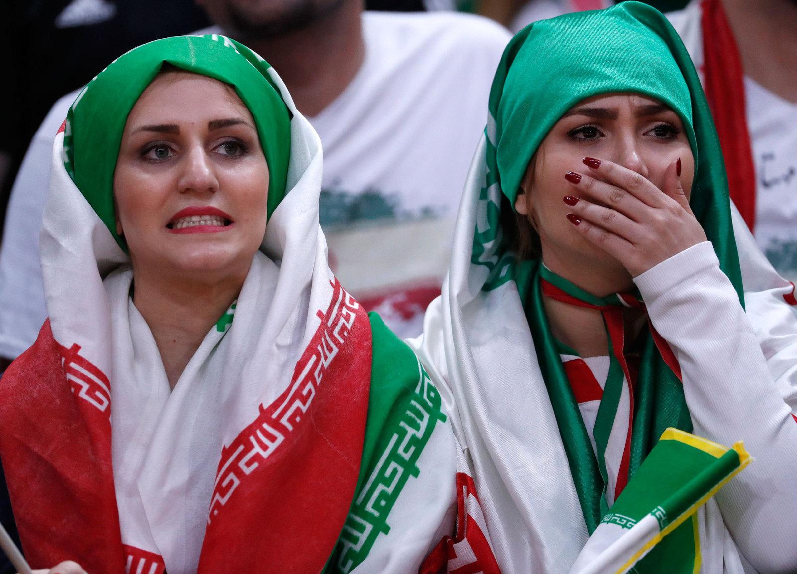 Иранские болельщицы на трибунах в Рио