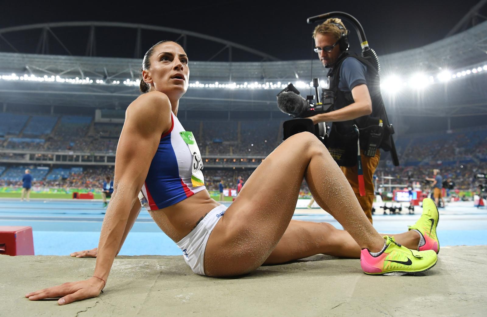 Прыгунья в длину Ивана Шпанович показала лучший результат в квалификации, но в финале соревнований стала лишь третьей