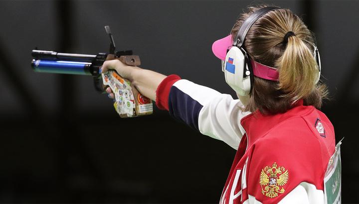 Россиянка взяла серебро пострельбе изпистолета наОИ
