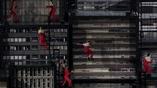 Городской паркур в испровизированном городе на открытии олимпийских игр
