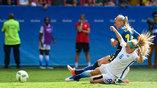 в 1/4 финала олимпийского футбольного турнира встречались сборные США и Швеции