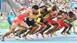 Забег на 100 метров с участием Усейна Болта