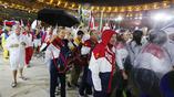 Российские атлеты на церемонии закрытия олимпийских игр в Рио