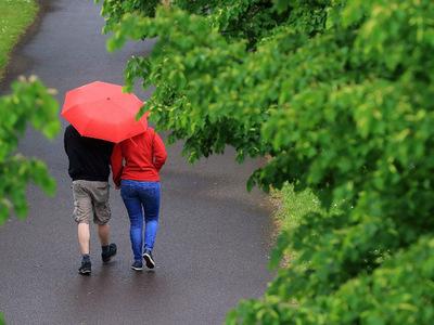 В Москве пасмурно и дождливо
