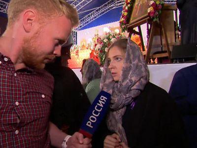 Поклонская с иконой Николая II прошла с крестным ходом в Екатеринбурге