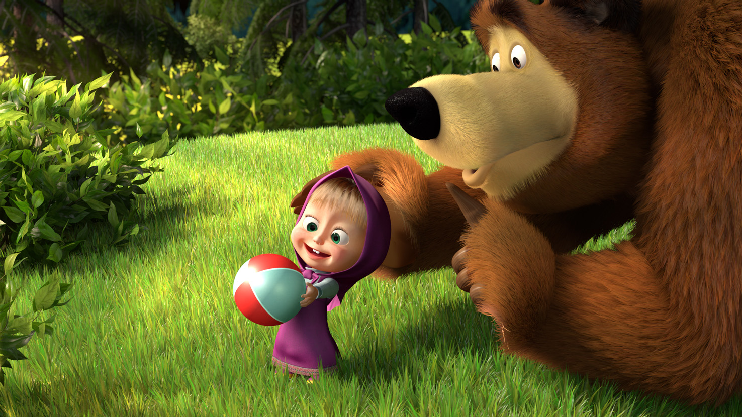 с машей и медведем