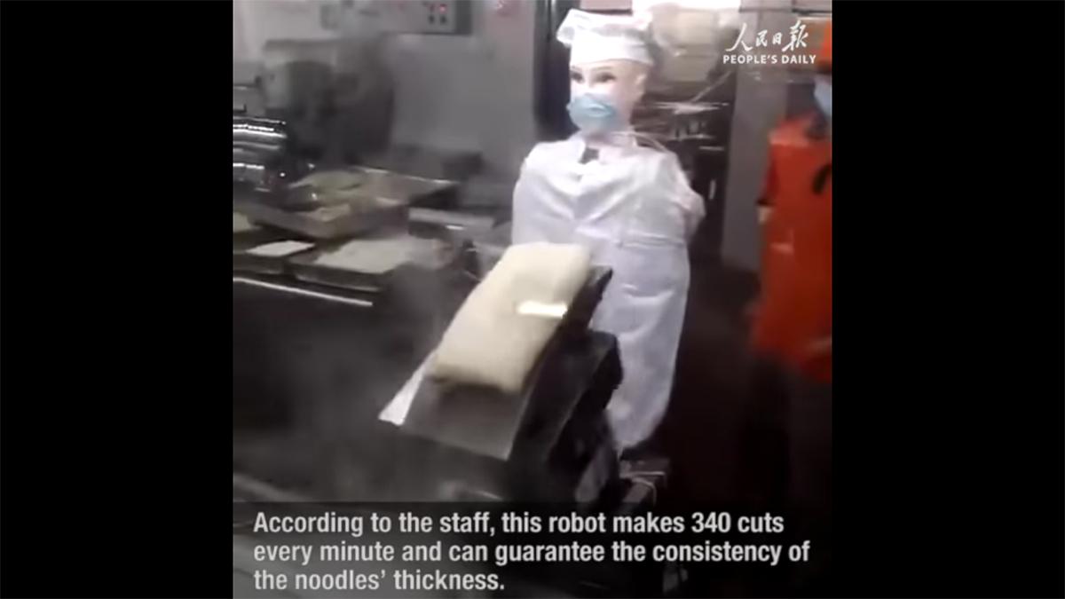 секс в столовой на роботе