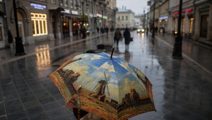 фото в москве в дождь