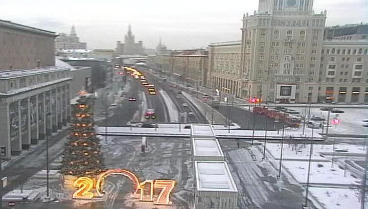 В Москве прошедшая ночь стала самой холодной с начала зимы