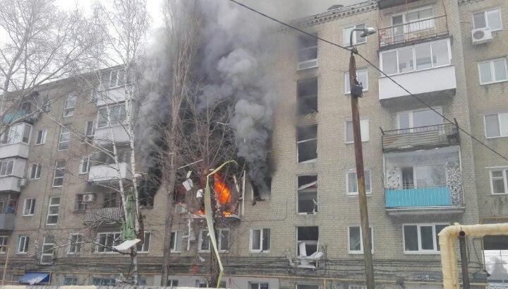 В саратовской многоэтажке взорвался газ