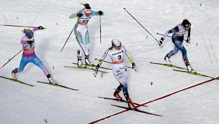 Лыжницы Белорукова и Матвеева выиграли командный спринт