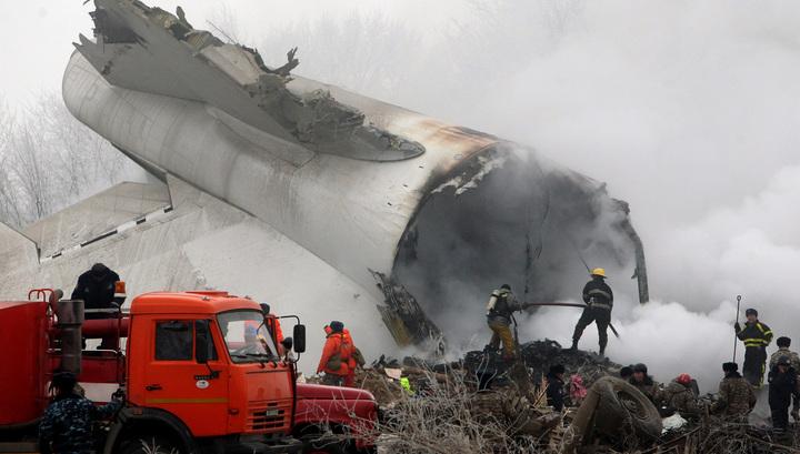 Найден черный ящик разбившегося под Бишкеком Boeing