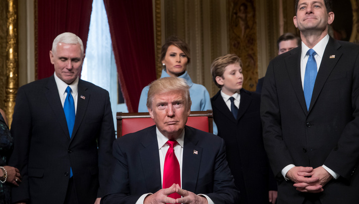 Всепланетарная кинореальность, действие1. Трамп подписал первые указы и сделал назначения