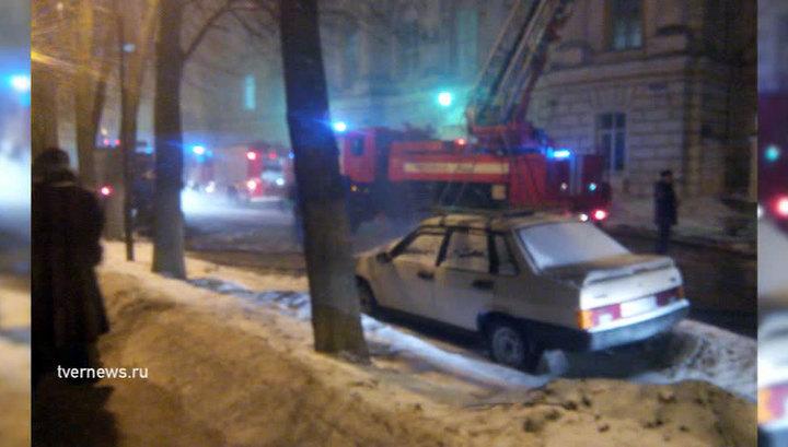 Пожар в детской больнице в Твери: в здании рухнула кровля