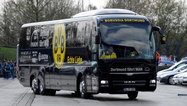 """Рядом с автобусом дортмундской """"Боруссии"""" прогремел взрыв"""