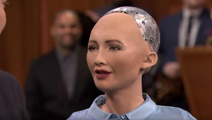 Робот София сказала на ТВ, что мечтает захватить мир