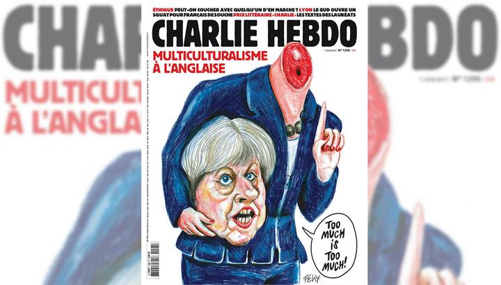 Charlie Hebdo выпустил номер с обезглавленной Терезой Мэй на обложке