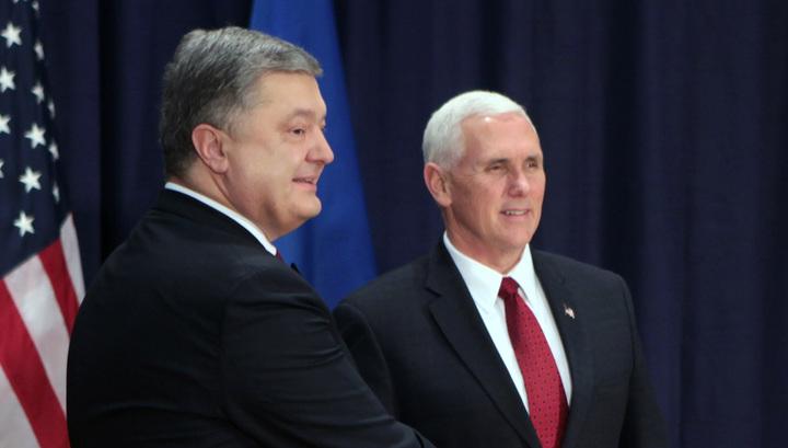 Порошенко встретится в Вашингтоне с вице-президентом США