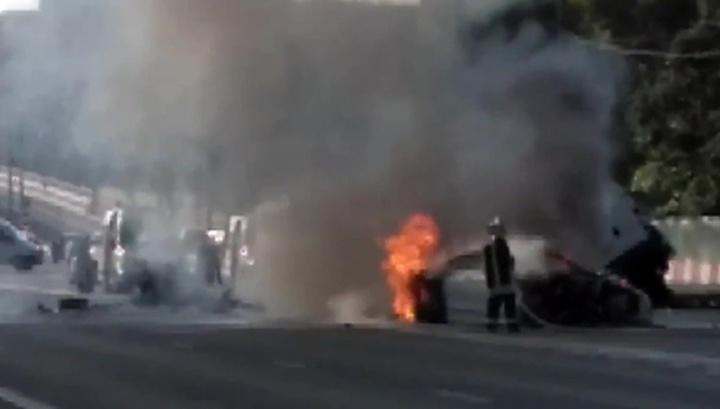 ДТП на Волоколамке: пострадали 4 человека, шоссе стоит