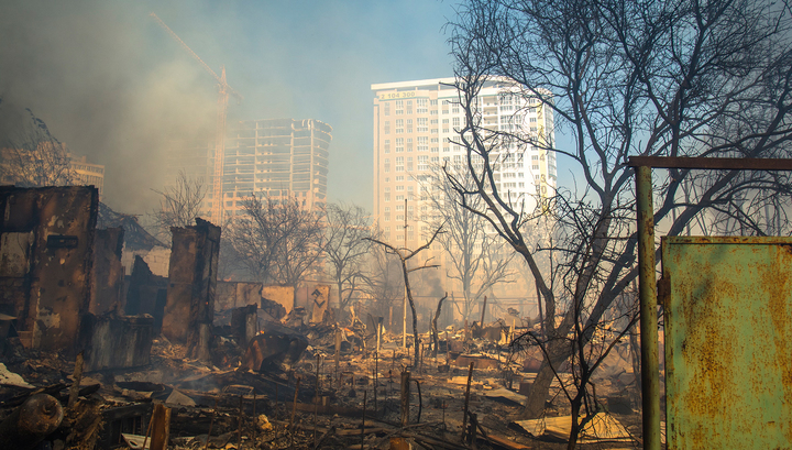 Пожар в Ростове: на пепелище обнаружен труп мужчины
