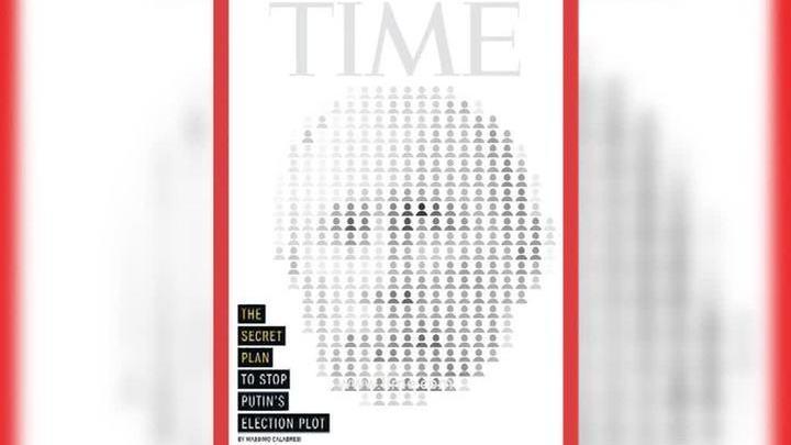 """На обложке Time появился """"креативный"""" портрет Путина"""