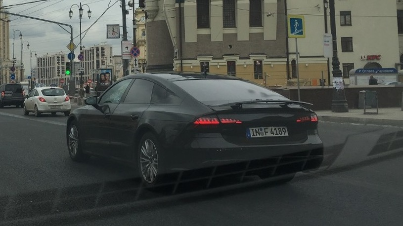 Ауди начала дорожные тесты нового Ауди A7 на трассах столицы
