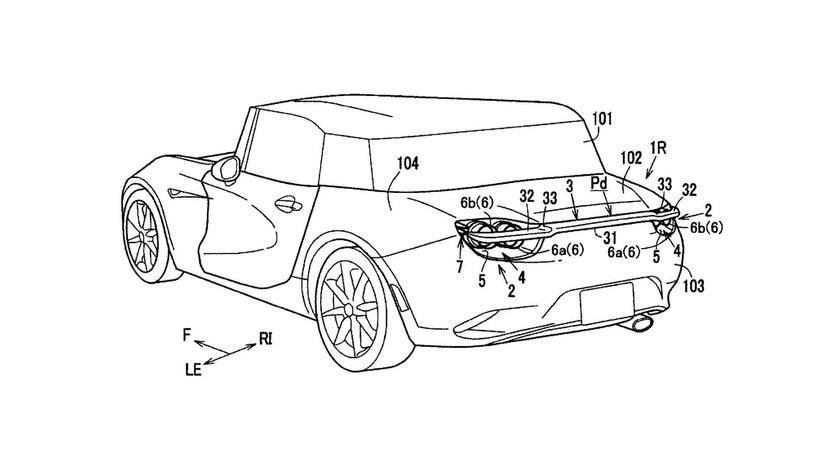 Компания Mazda придумала прячущееся  заднее антикрыло