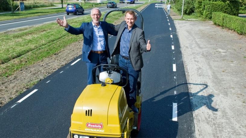 В Нидерландах появилась дорога из туалетной бумаги