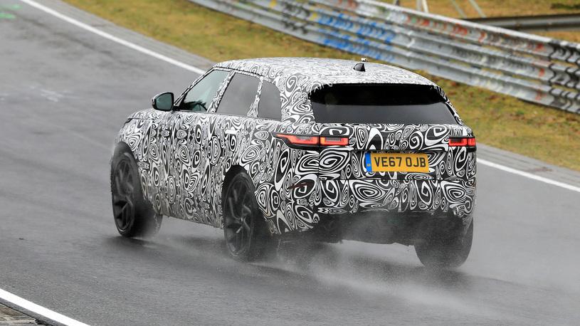 Range Rover Velar испытали на трассе Нюрбургринг