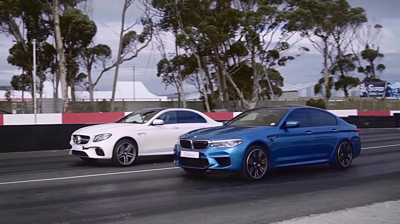 BMW M5 против Mercedes-AMG E 63 S: новая битва суперседанов (видео)