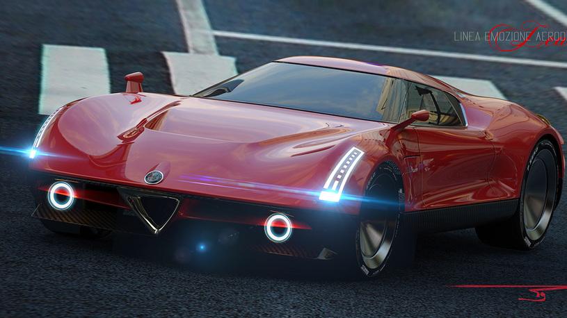 Концептуальный суперкар Alfa Romeo фантастически красив и голографичен