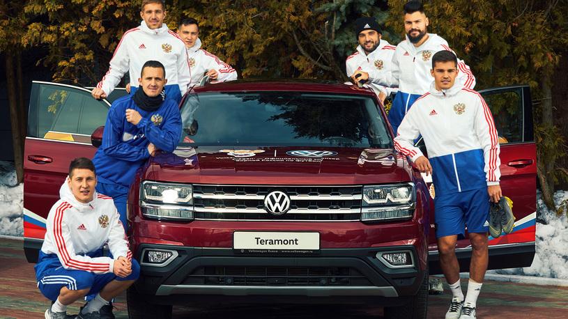 Volkswagen поможет сборной России по футболу играть еще успешнее