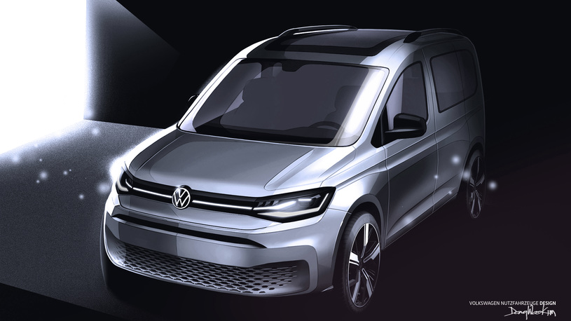 Вот как будет выглядеть новый Volkswagen Caddy