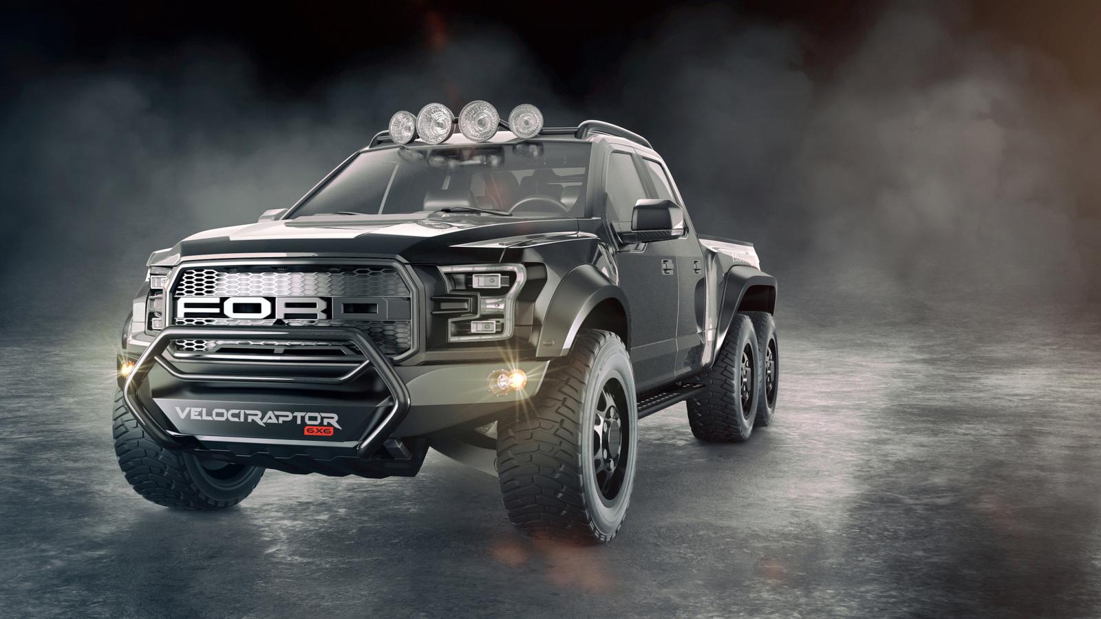 Тюнеры превратили пикап от Ford в шестиколесного монстра