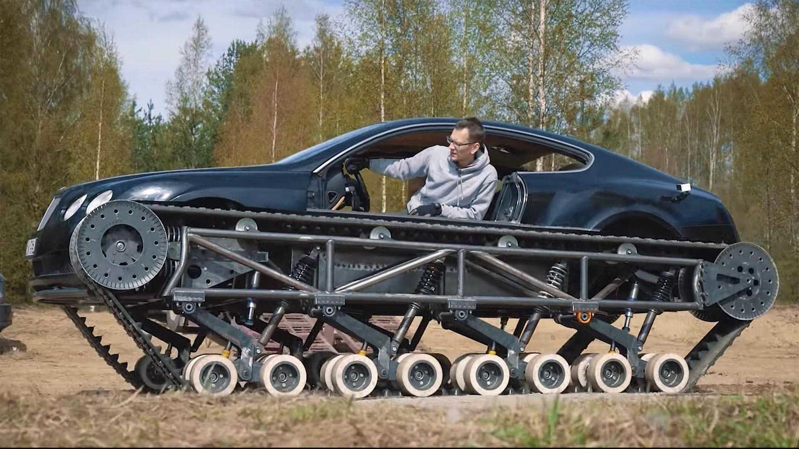 """Заезд """"русского танка Bentley"""" на наивысшую скорость проявили на видео"""