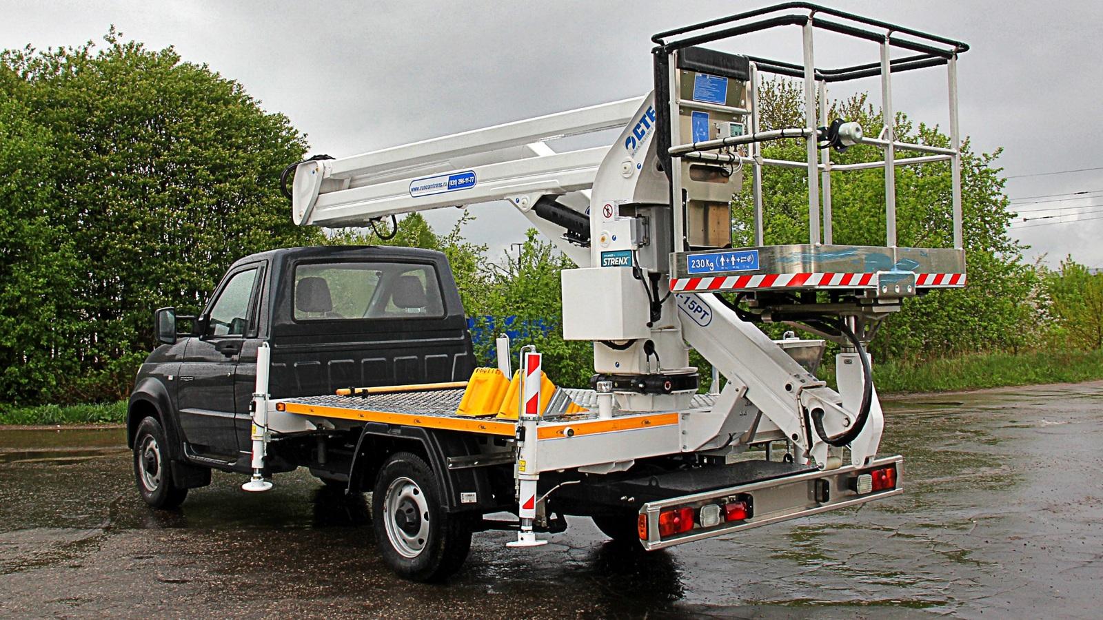 "УАЗ превратил грузовик ""Профи"" в подъемник"