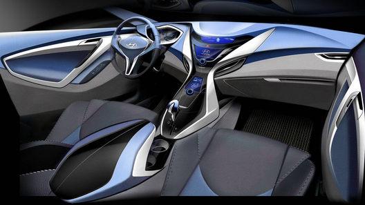 Hyundai представила первый набросок интерьера Elantra