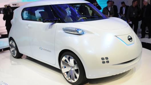 В Париже показали массовый электромобиль будущего Nissan Townpod