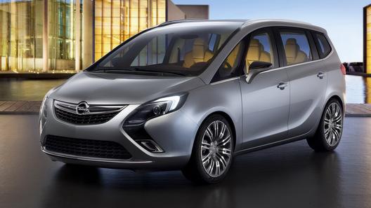Появились первые официальные фотографии протипа будущего Opel Zafira