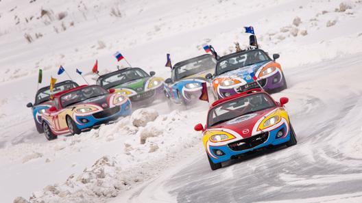 Mazda начала спортивный сезон ледовой гонкой в Екатеринбурге