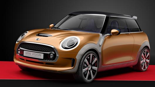 Новый концепт-кар Mini может менять цвета и подмигивать пассажирам
