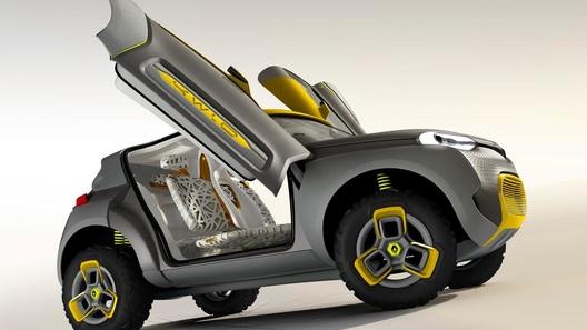 Русский дизайнер создал для Renault автомобиль-вертолетоносец