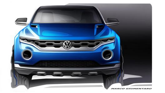 VW нарисовал новую версию компактного кроссовера