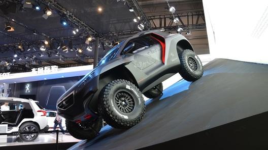 Раллийный Peugeot предстал во всей красе в Пекине