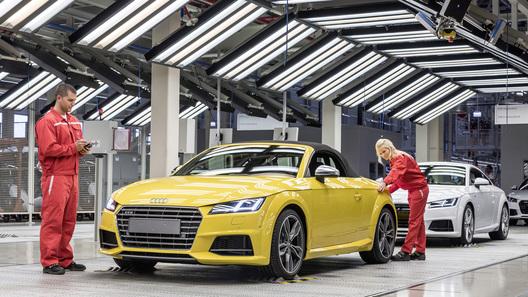 Серийное производство нового родстера Audi TT началось в Венгрии