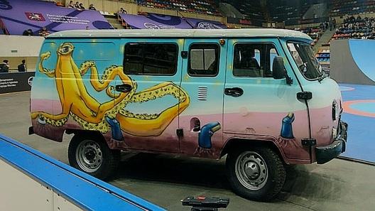 Фургон отУАЗа для скейтбордистов