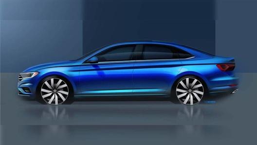 VW выпустил официальный тизер сновой Jetta